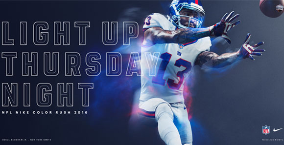 New York Giants Color Rush Jerseys