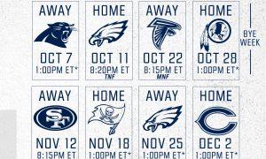 New York Giants 2018 Schedule