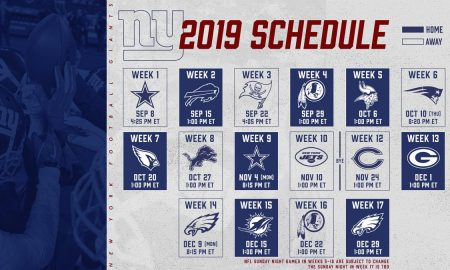 Giants 2019 Schedule